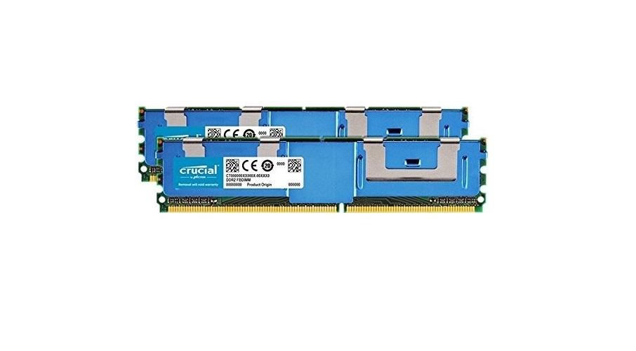 Crucial 16GB (2x8GB) DDR2 PC2-5300 667MHz Ecc Fb Fully Buffered CL5 240pin CT2KIT102472AF667