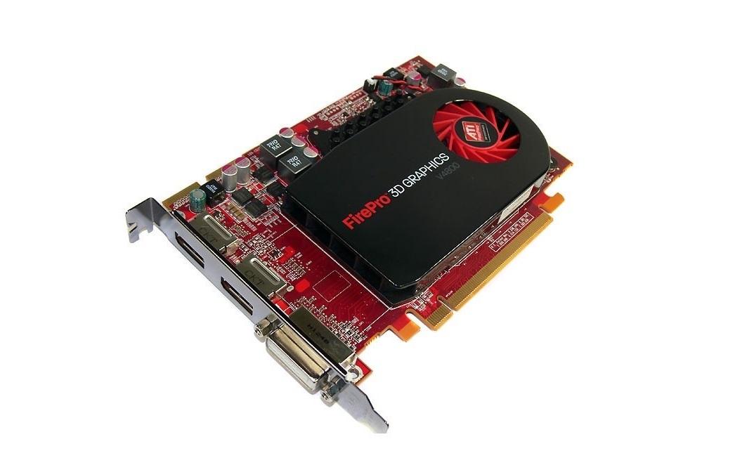 1GB Dell ATI FirePro 3D V4800 GDDR5 PCI-E 2.0 x16 DVI 2x DisplayPort Video Card 0X31G