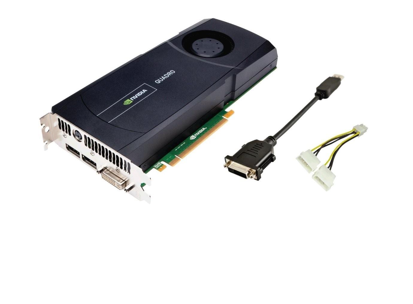 2.5GB HP 671138001 nVIDIA Quadro 5000 GDDR5 DVI-I 2 X DisplayPort TV-Out 2560x1600 PCI-E Graphics Card 671138-001