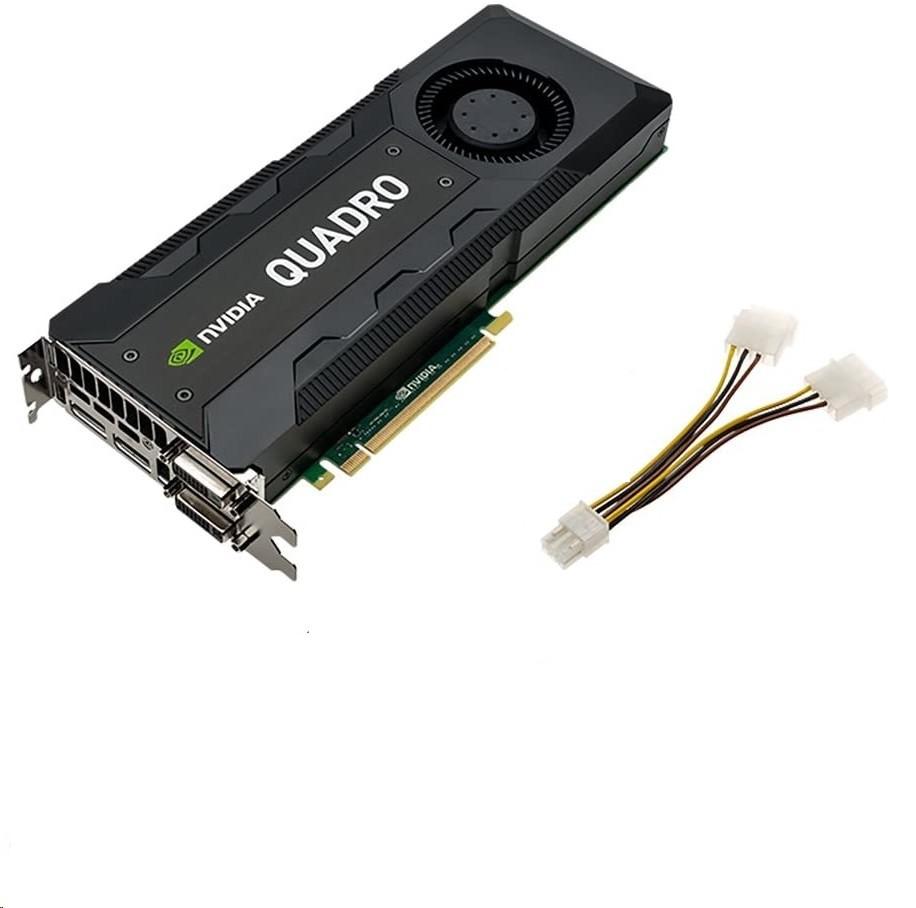 4GB HP Quadro K5000 2x DVI 2x DisplayPort PCI Express 2.0 x16 C2J95AT Graphic Card