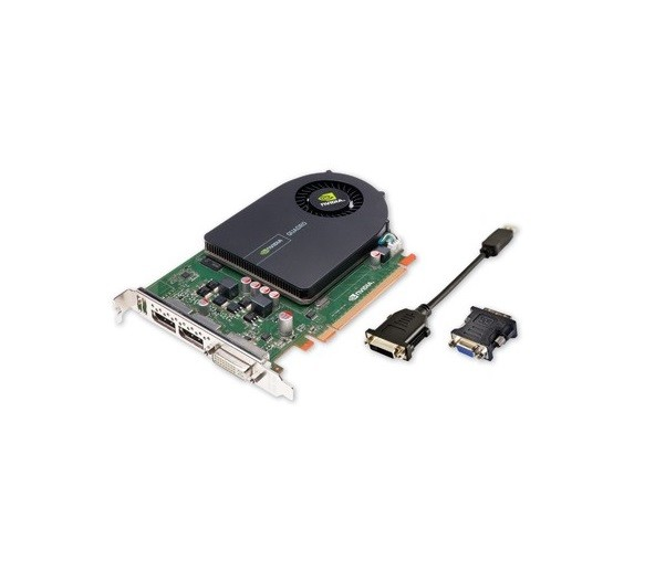 1GB HP Quadro 2000 Graphics Card GDDR5 PCI Express 2.0 x16 DVI-I 2x DisplayPort 612952-003