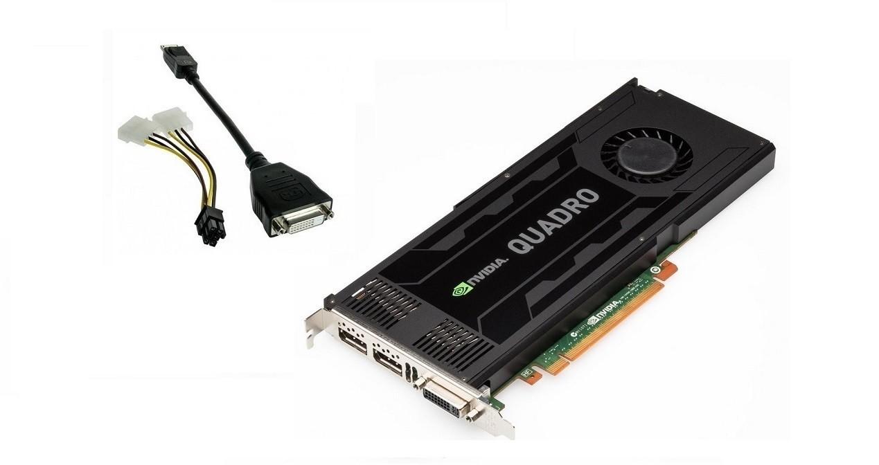 3GB PNY Quadro K4000 DVI-I 2x Display Ports GDDR5 PCI Express 2.0 x16 Graphic Card VCQK4000-PB