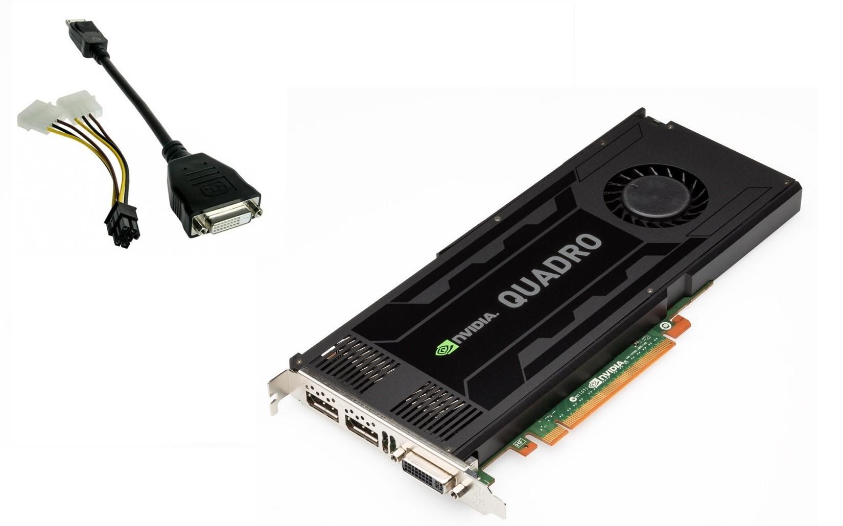 3GB HP C2J94AA nVIDIA Quadro K4000 GDDR5 PCI Express 2.0 x16 2x Displayports DVI Graphic Card