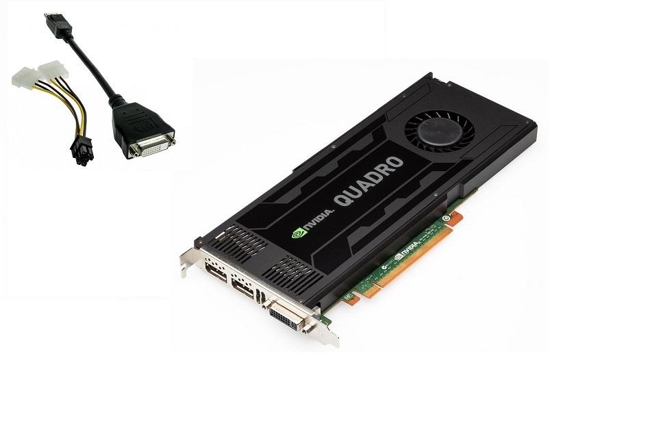3GB Dell D5R4G Quadro K4000 DVI-I 2x Display Ports GDDR5 PCI Express