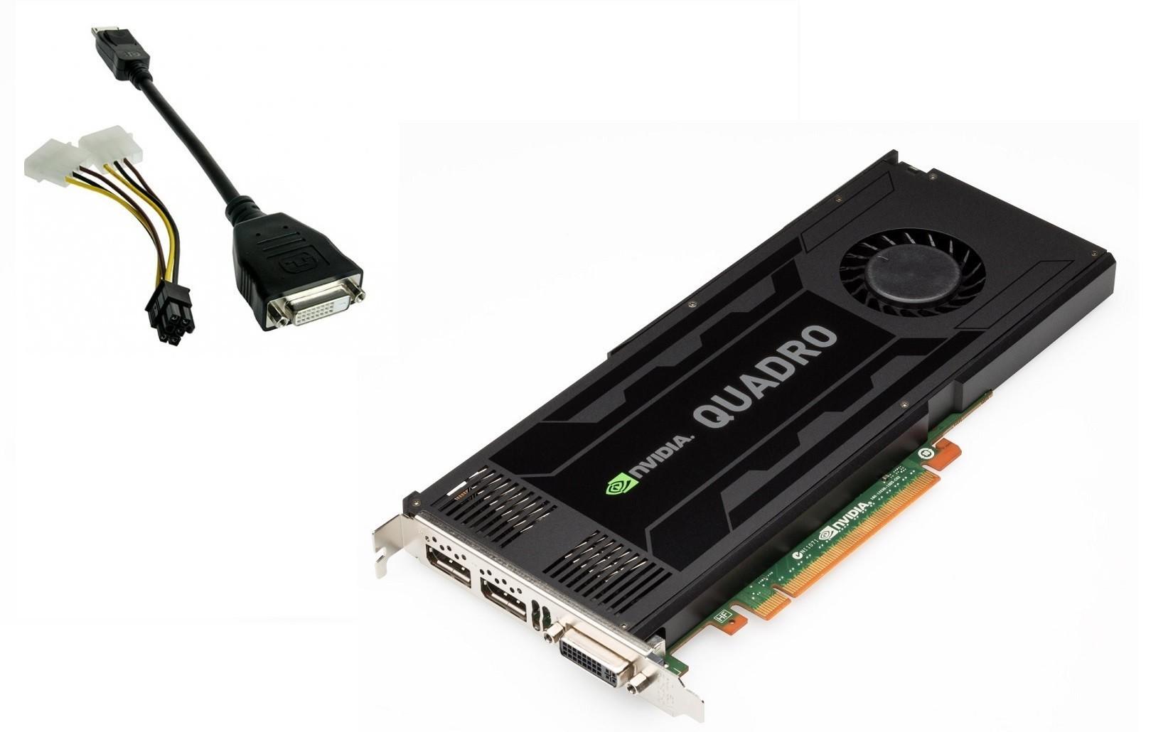 3GB HP 713381-001 Quadro K4000 GDDR5 PCI Express 2.0 x16 2x Displayports DVI Graphic Card
