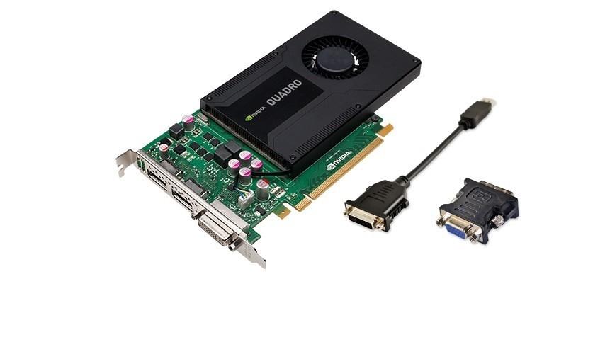 2GB nVIDIA Quadro K2000 Graphic Card GDDR5 DVI 2x Displayports PCI Express 2.0 x16 VCQK2000-PB