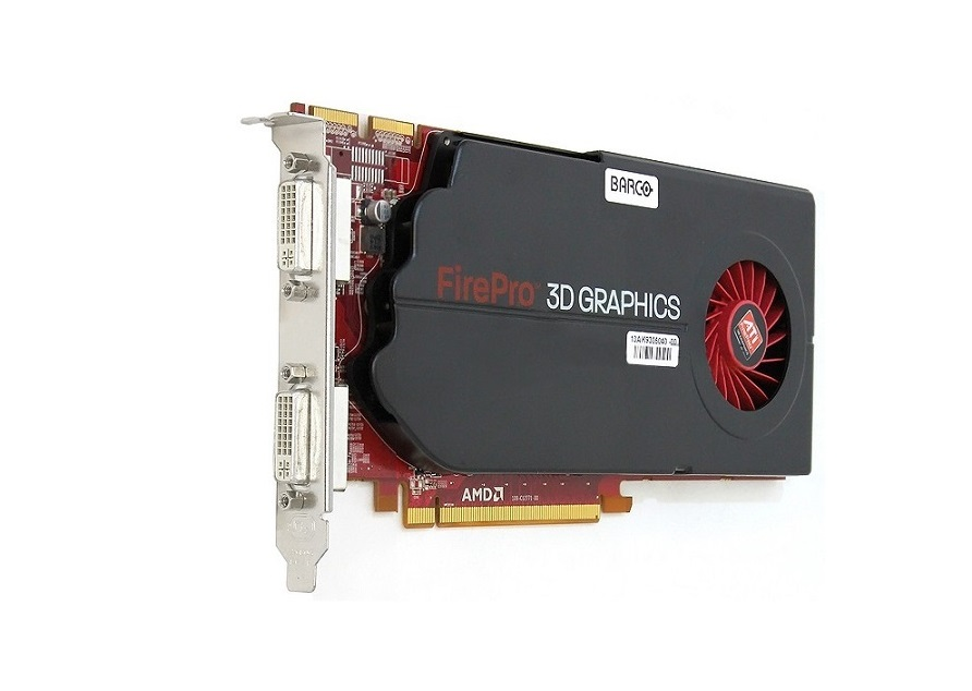 1GB Barco ATI FirePro MXRT-5450 Dual Link DVI GDDR5 PCI-E 2.0 x16 Medical Imaging 102C1270202 Video Card