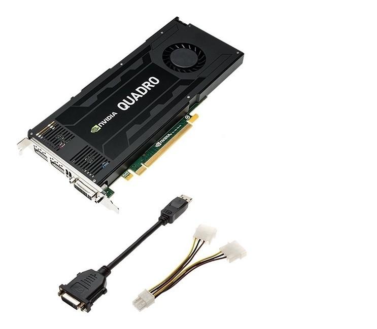 4GB Dell Quadro K4200 DVI 2x DisplayPort PCI Express 2.0 x16 Video Card 490-BCJB