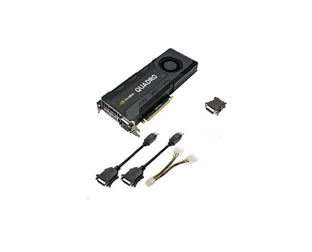 8GB Dell nVIDIA Quadro K5200 GDDR5 Dual DVI 2x DisplayPort PCI-Expres 3.0 x16 Graphics Card 0R93GX