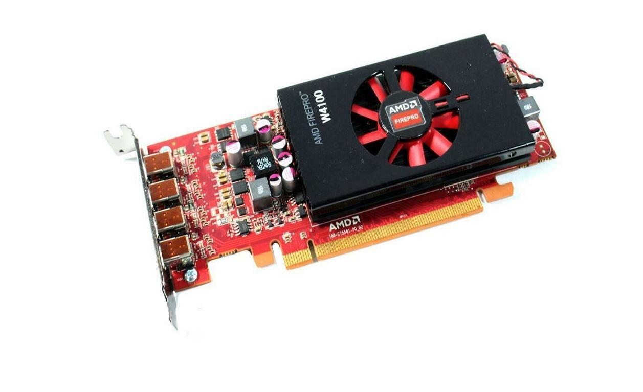 2GB AMD 100-505979 FirePro W4100 4x Mini Displayports PCI-Express x16 Low Profile Video Card