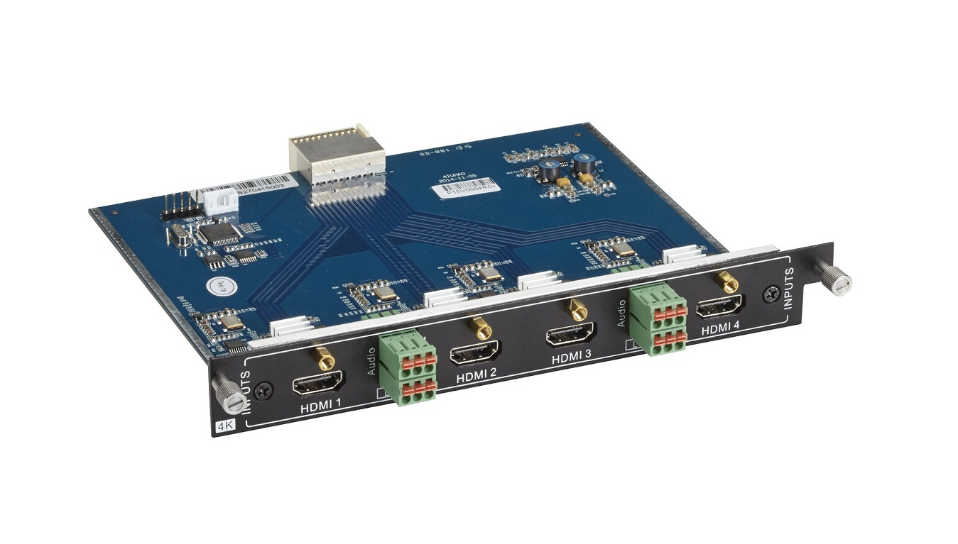 Black Box Modular Video Matrix Switcher Input Card 4K Hdmi Audio AVS-4I-HDM