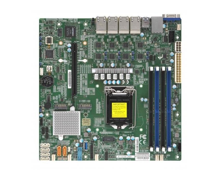 Supermicro X11SCM Intel C246 Chipset DDR4 Socket H4 LGA-1151 Microatx Motherboard X11SCM-LN8F