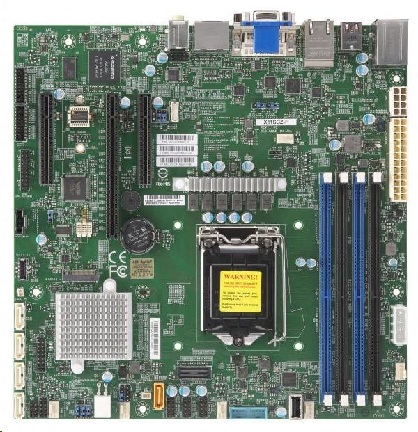 Supermicro Super Micro MBD-X11SCZ-F Intel C246 LGA-1151 4xDIMM Slots DDR4 2666MHz Uatx Motherboard