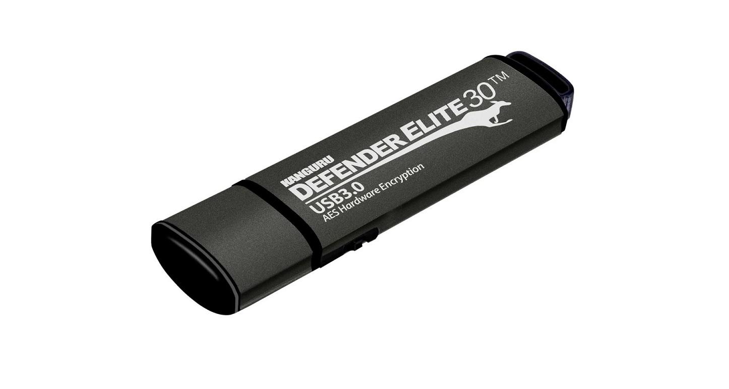 32GB Kanguru Defender Elite30 USB 3.0 Hardware Encrypted Flash Drive KDFE30-32G