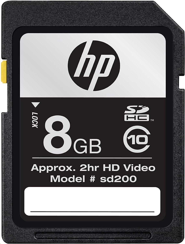 Hp 8GB SD200 High Speed Flash Memory Sdhc CG788A-EF