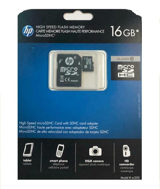 Hp 16GB SD200 High Speed Flash Memory Microsd L1891A-EF