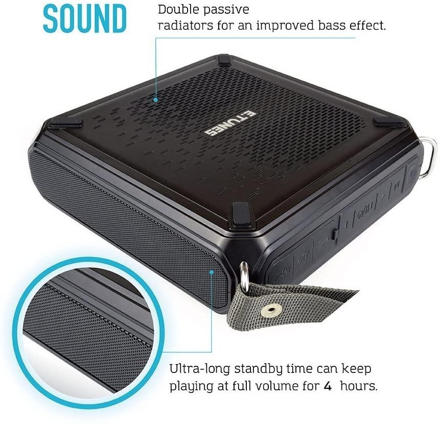 Renogy E.Tunes Portable Solar Wireless Bluetooth Outdoor Speaker RNG-CMP-ETUNES