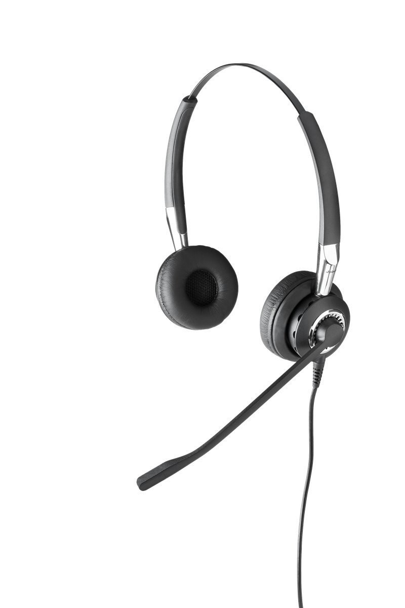 Jabra BIZ 2400 DUO Wired Over-the-head Noise Cancelling Microphone Headset 2489-820-105