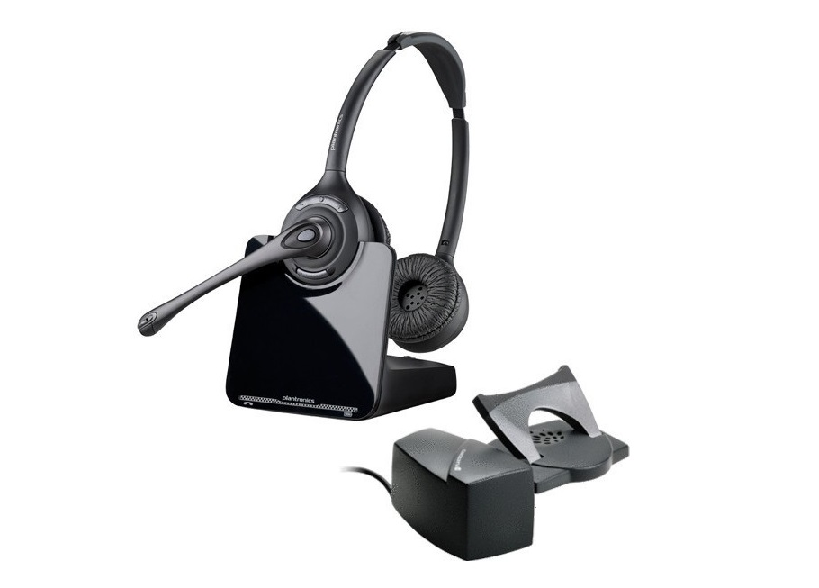 Plantronics CS520 Over-the-head Binaural Stereo Wireless Headset With Lifter 84692-11