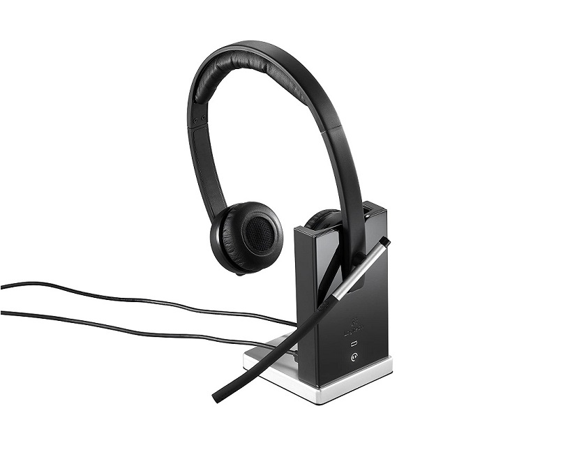 Logitech H820e Wireless Headset Dual Double-Ear Over-the-head Stereo Business 981-000516