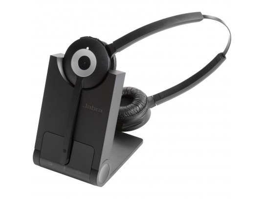 Jabra Pro 920 DUO Wireless Headset w/ Noise-Canceling Microphone 920-69-508-105 Over-the-Head Black
