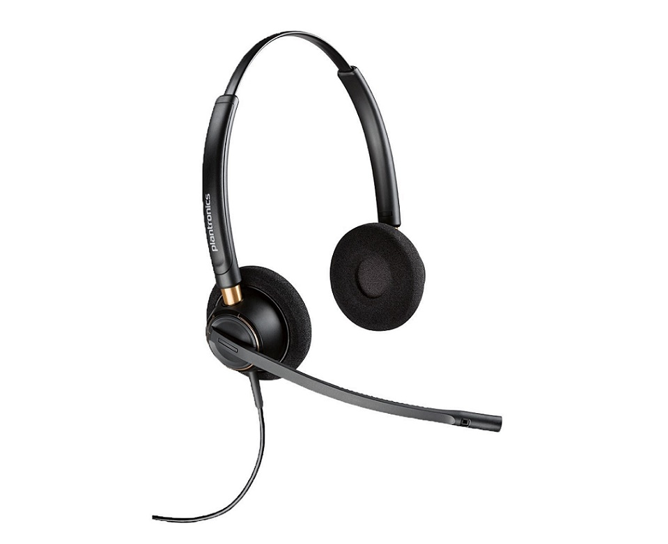 Plantronics EncorePro HW520 Over-the-Head Binaural Wired Headset 89434-01