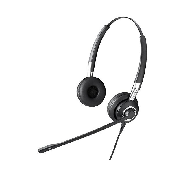 Jabra 2400 II QD DUO NC Wired Headset Black 2409-820-205