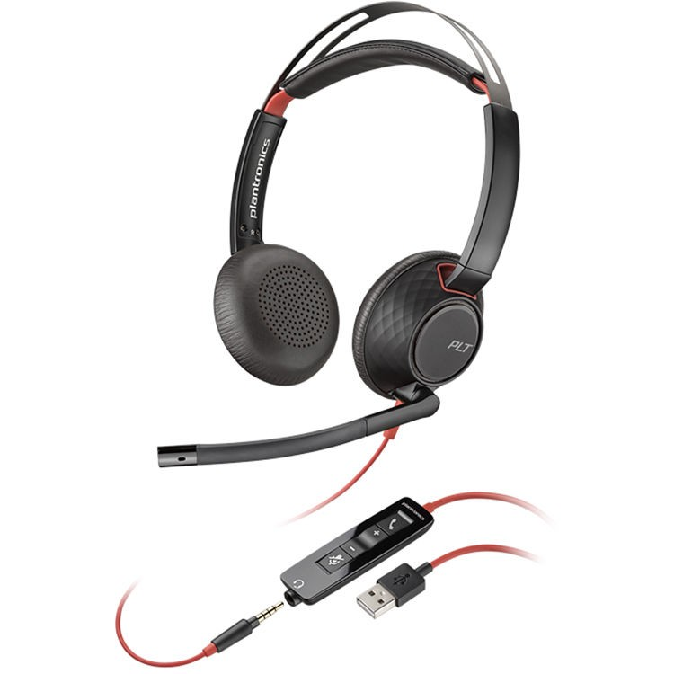 Plantronics Blackwire 5220 USB Type-A Stereo On-Ear Headset 207576-01