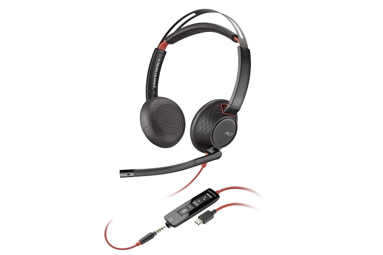 Plantronics 207586-01 Blackwire 5220 USB Type-C Stereo On-Ear Headset 207586-01