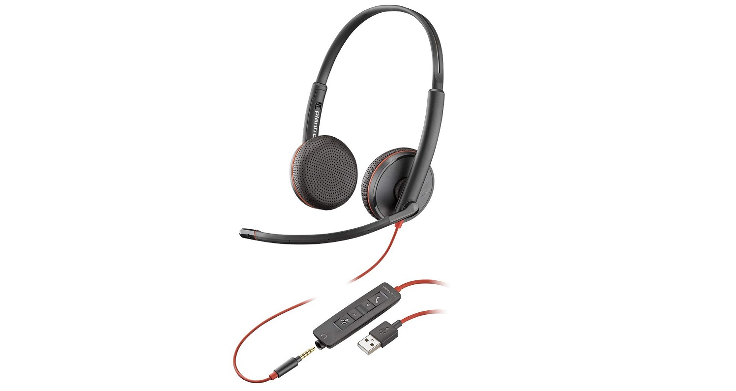 Plantronics 209747-101 Blackwire 3225 USB A Corded Stereo UC Headset