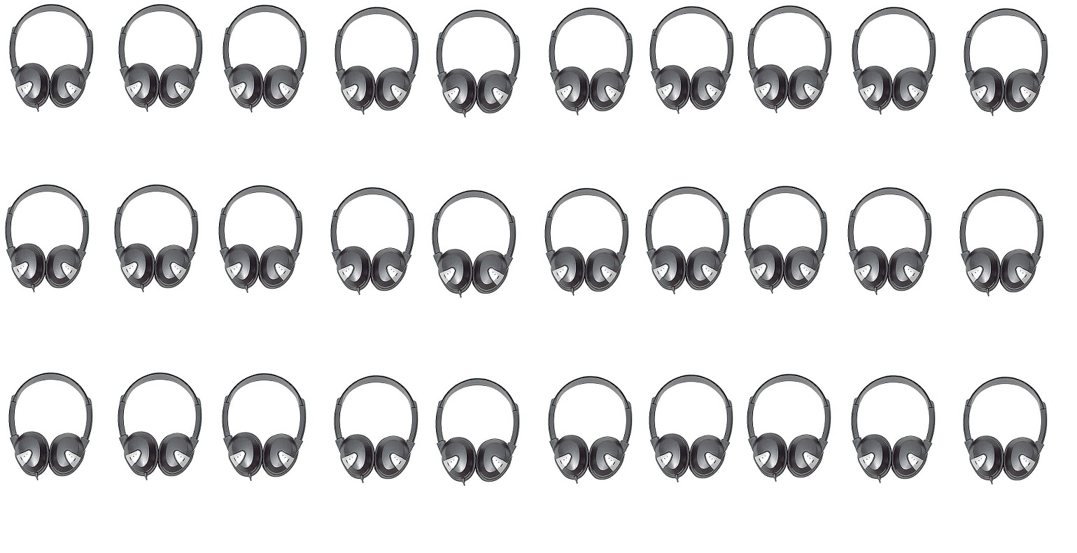 Avid Education 8EDU-30CPFV-060 Headphones Classroom Pack of 30 Black