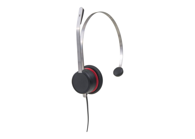 Avaya L139 Qd Monaural Leather Headset Brushed Aluminum 700514053