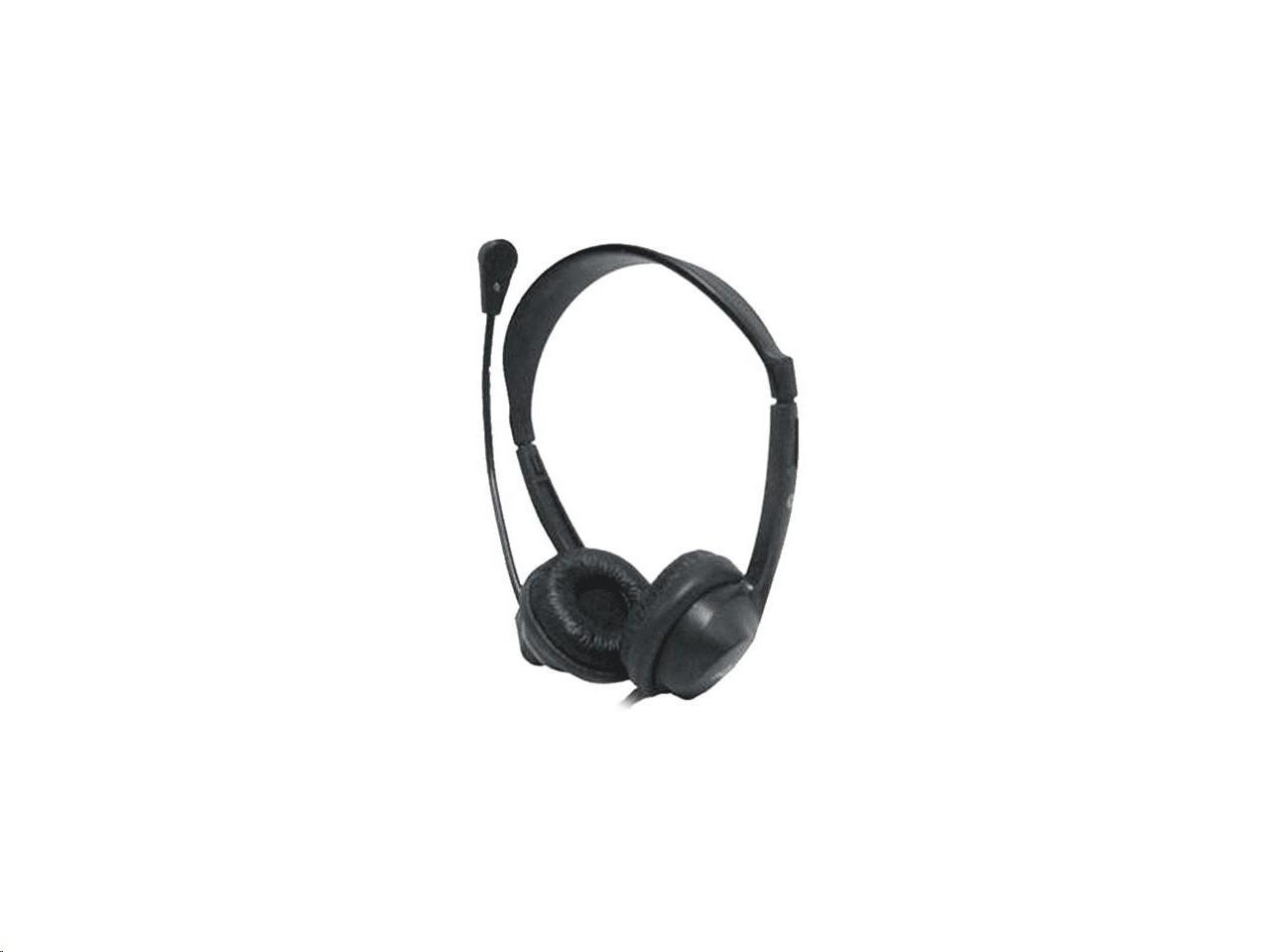 Avid On-Ear Headphones With Boom Mic Black 1EDU-AE18