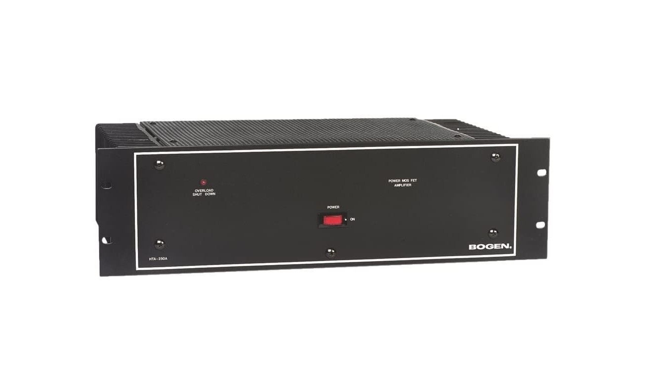 Bogen HTA250A Power Amplifier 250-Watt 70V/25V HTA-250A