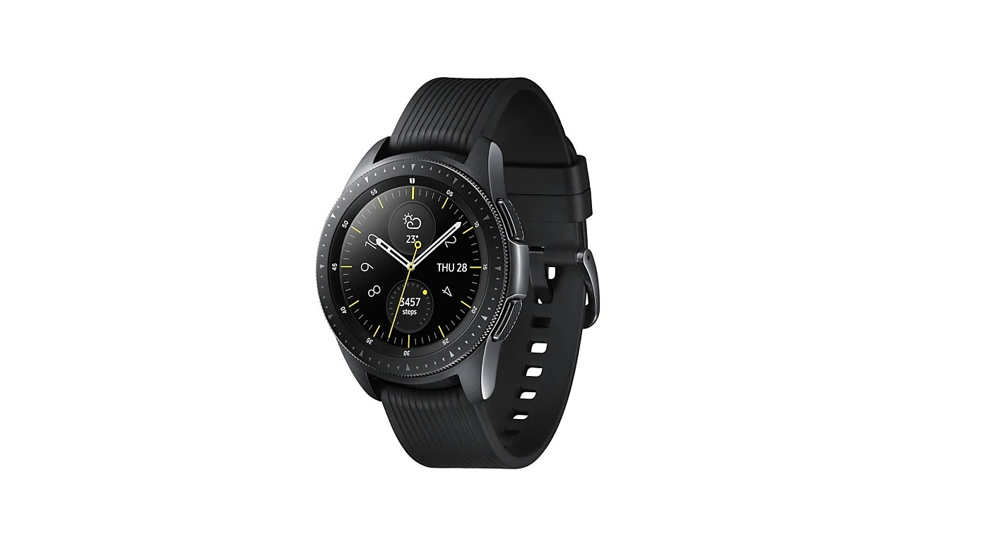 Samsung Galaxy Watch 42mm Lte Smartwatch With Heart Rate Monitor Black SM-R815WZKAXAC M-R815UZKAXAR
