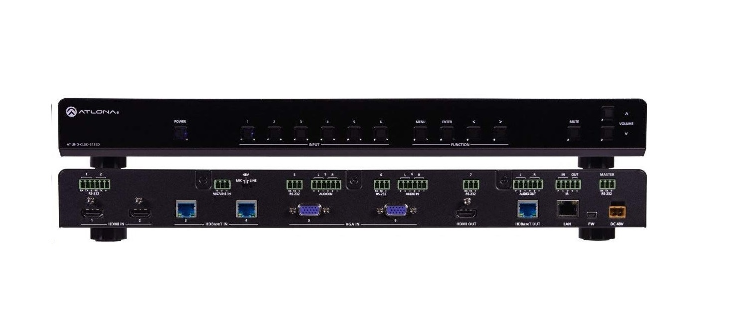 Atlona AT-CLSO-612ED 4K/UHD Six-Input Multi-Format Switcher AT-UHD-CLSO-612ED
