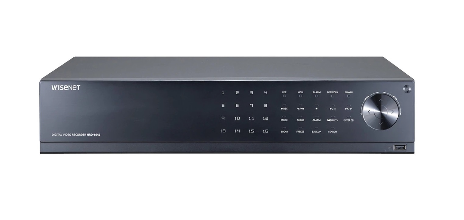 Samsung Hanwha HRD-1642 Techwin 16-Channel 4MP Ahd DVR With 4TB HDD HRD-1642-4TB