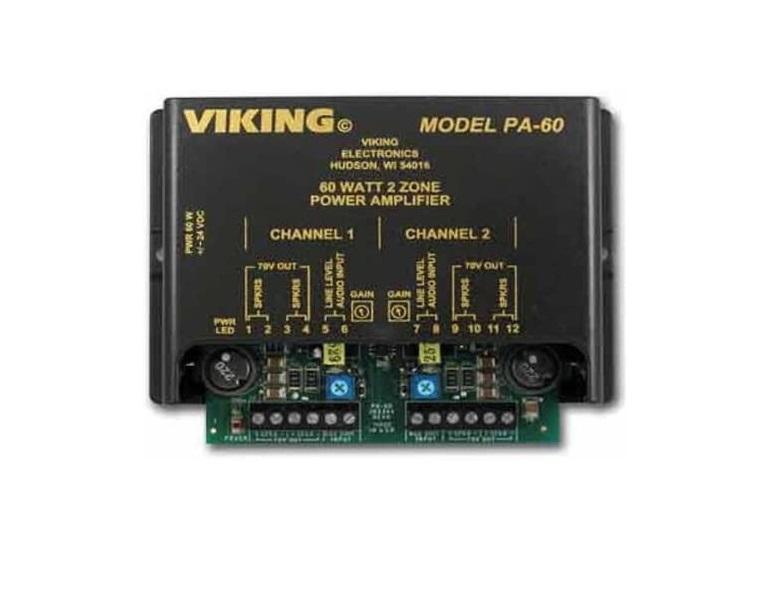 Viking Components PA60 60W Dual-zone Amplifier PA-60