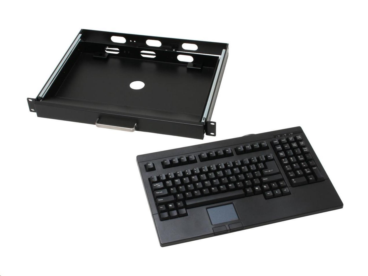 Adesso RackMount Keyboard Drawer 104-Key w/Touchpad PS/2 Black ACK-730PB-MRP