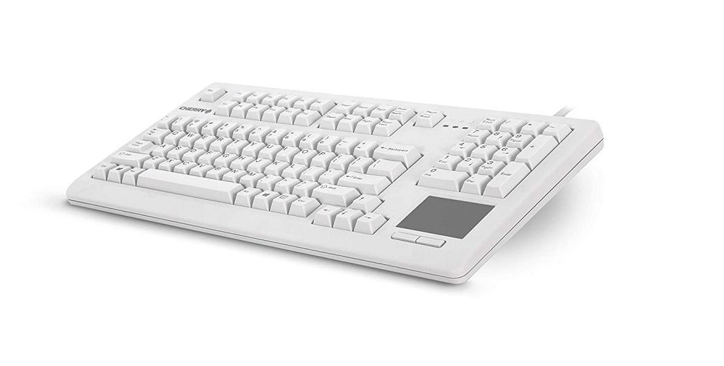 Cherry Keyboard w/Touchboard 104-Key USB Light Grey G80-11900LUMEU-0