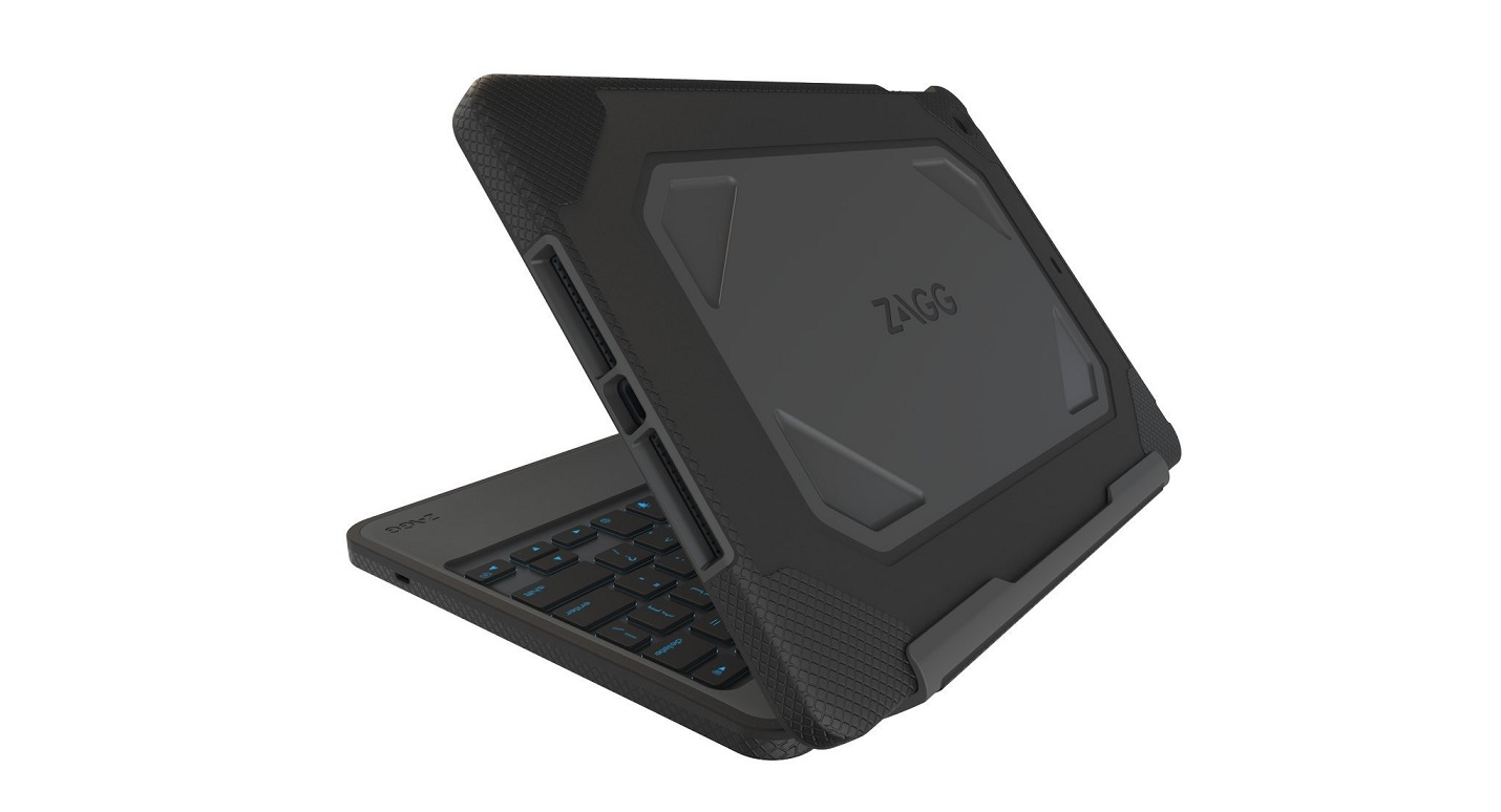 Zagg Rugged Book Durable Case Backlit Keyboard For Ipad Air ID5RGK-BB0