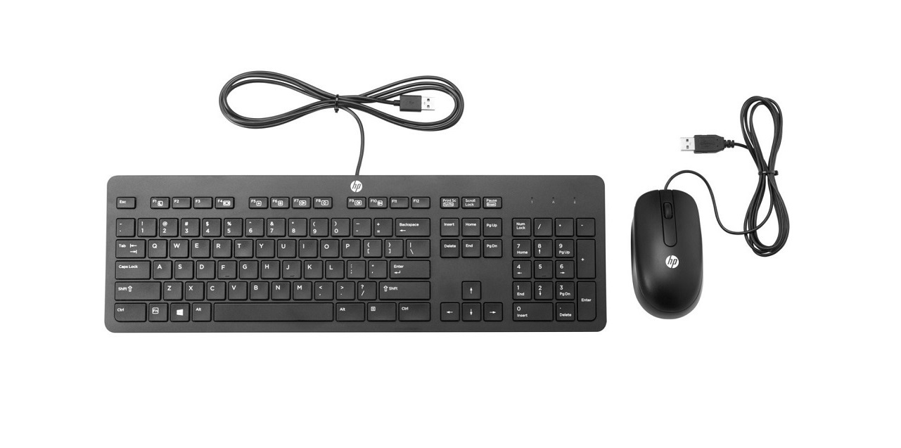 HP Business Slim Keyboard and Mouse USB Black T6T83UT#ABA
