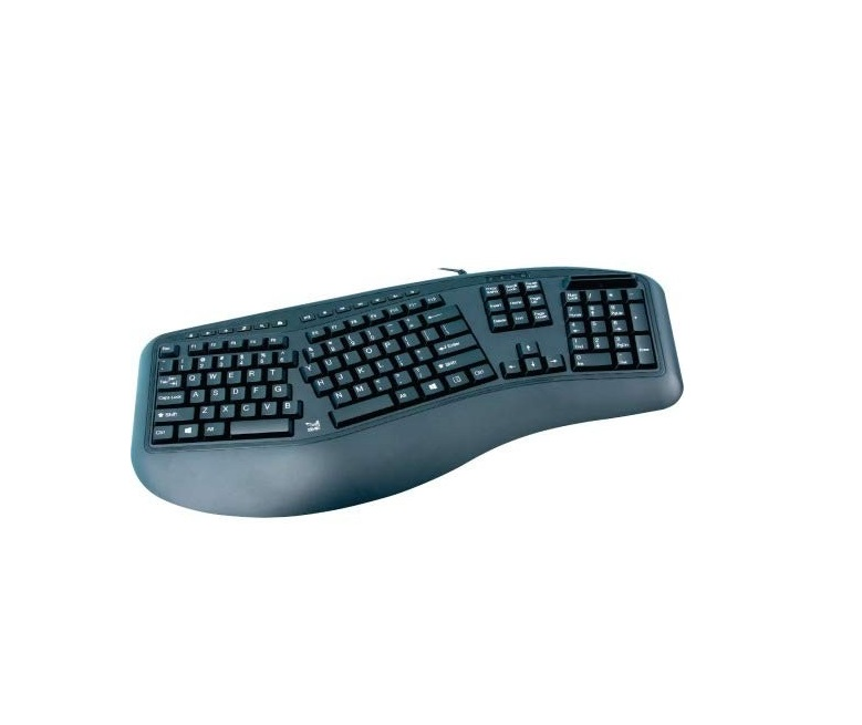 SMK-Link Ergonomic USB Keyboard With Cac Reader VP3827-TAA