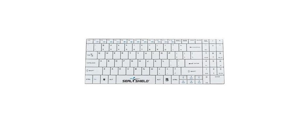 Seal Shield Clean Wipe Waterproof USB Keyboard White SSKSV099UK