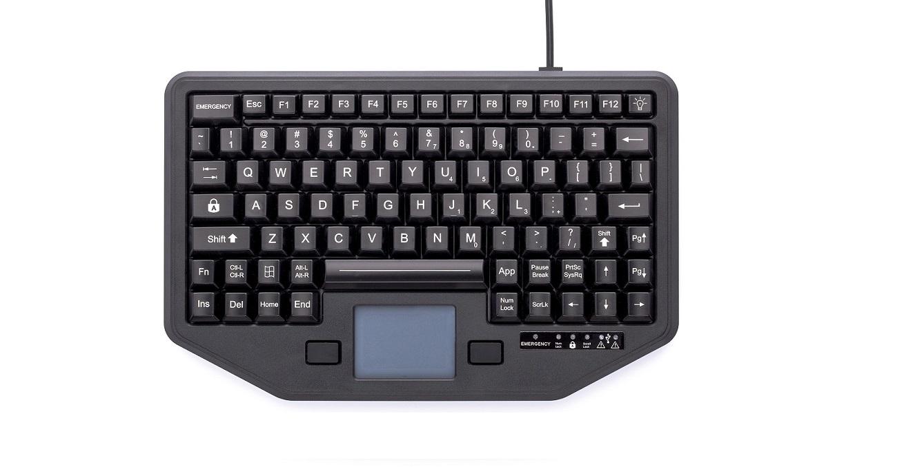 Ikey Panasonic Full Travel USB Keyboard w/Touchpad Black IK-88-TP-USB-P