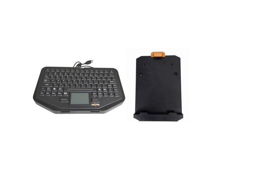 Havis Rugged Usb Keyboard KB-106 With Mount C-KBM-201 PKG-KB-206