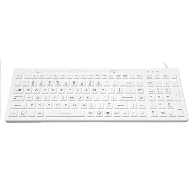 Solidtek Usb Wired Waterproof Backlit Keyboard White KB-IKB106BL