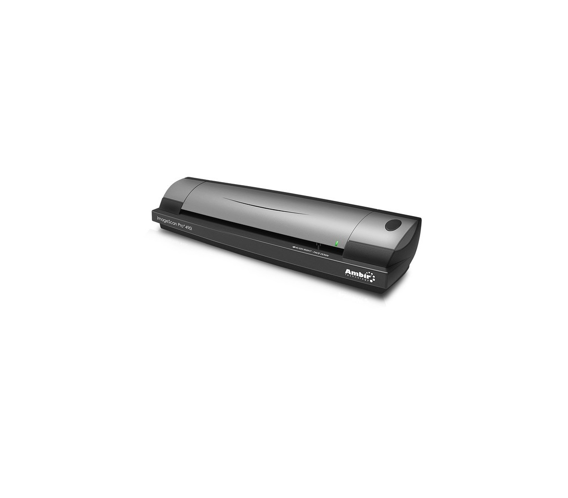 Ambir Technology ImageScan Pro 490i Up To 600dpi USB Sheetfed Scanner DS490-AS