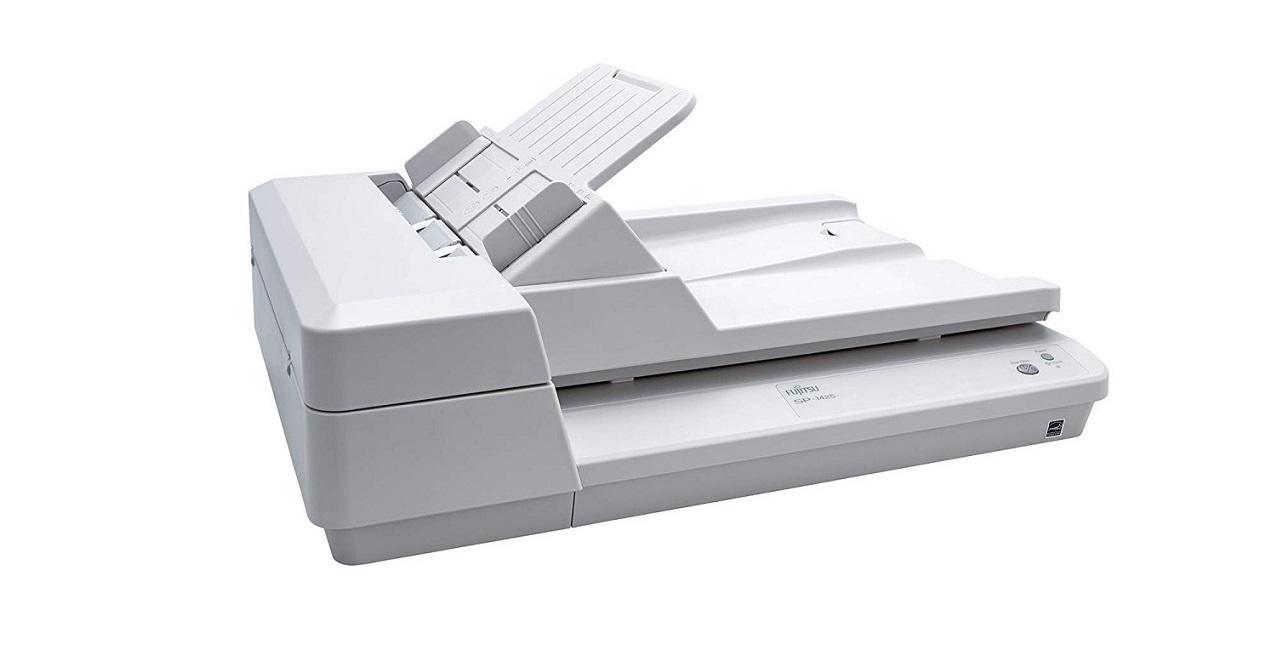 Fujitsu SP 1425 ADF Flatbed Document Duplex Scanner 600dpi USB White PA03753-B005