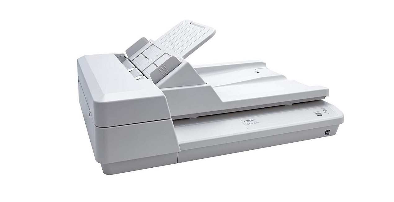Fujitsu SP-1425 Adf Flatbed Document Duplex Scanner 600dpi Usb White PA03753-B005